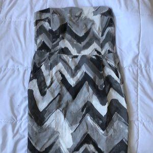 Grey patterned Banana Republic Dress